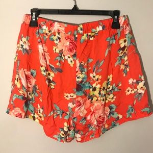 Leyden Shorts - Coral, mint, yellow floral shorts